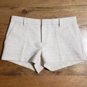 Banana Republic Ivory Jacquard Embossed Shorts 4